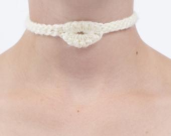 White Crochet Choker