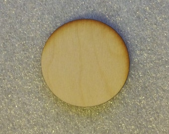 1 inch Wooden Laser Cut Circle Disk
