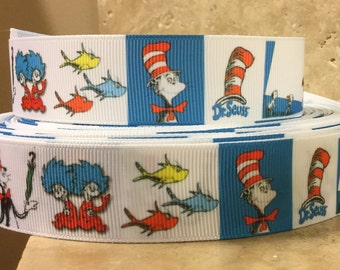 5 YDS Dr. Seuss Collage Ribbon
