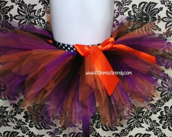 Purple, Orange and Black Tutu, Purple,  Black and Orange Halloween tutu, Halloween Tutu Skirt,  Halloween, Halloween Tutu, Girls Tutus