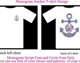 Monogram Shirt, Monogram Anchor T-Shirt
