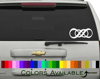 Double Infinity Car Decal