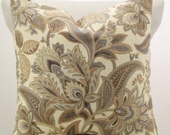 Waverly floral pillow cover,throw pillow,accent pillow,decorative pillow,lumbar pillow,same fabric front and back.