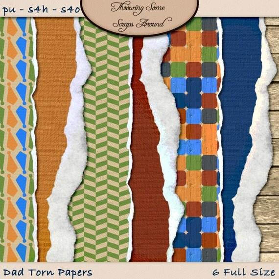Digital Scrapbook: Paper, Torn, Dad