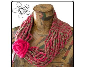 Cowl Chain Scarf Crochet Pattern (English terminology)