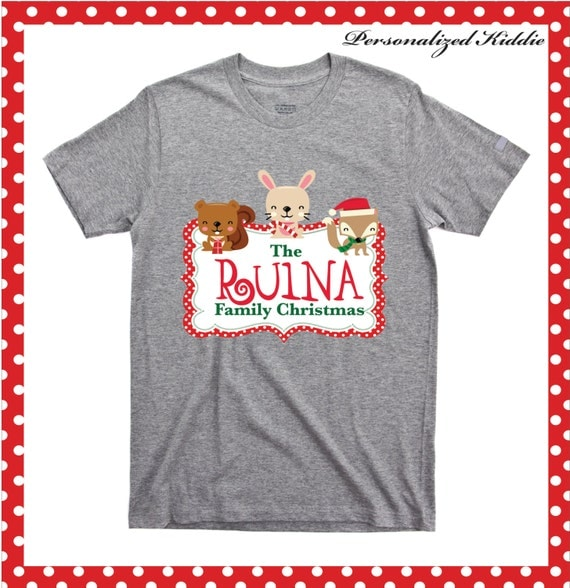Personalized Christmas Family T Shirt Personalized Family