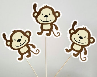 Monkey Centerpieces, Monkey Decorations, Monkey Centerpiece, Monkey Birthday, Monkey Baby Shower (218171132A)