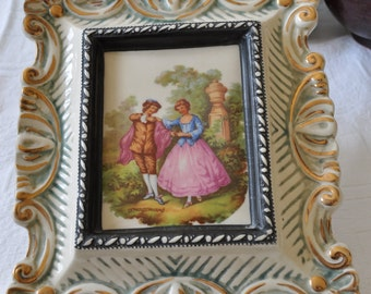 Rare porcelain bottle shaped frame