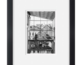 Riga city, black and white photography European art, wall art,photo print vertical
