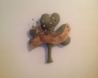 Luck 'O the Irish Shamrock Wall Hanger