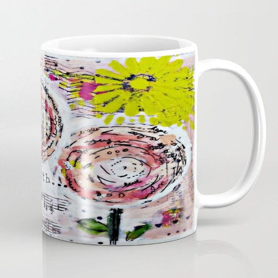 Mixed Media Mug. One of a kind original art