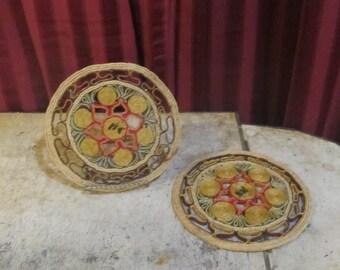 Pair of Weaving Wicker Pot Holders