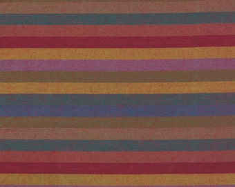 NARROW STRIPE  EARTH Woven narrow.earth  by  Kaffe Fassett fabric sold in 1/2 yard increments