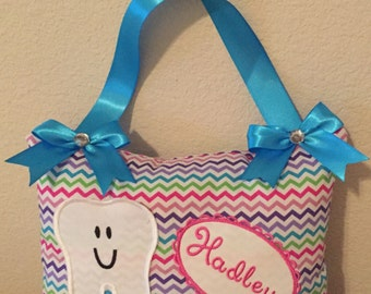 Girly Chevron Tooth Fairy Pillow