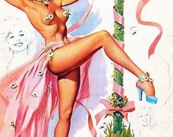 1950's Pin Up Poster 45 A3/A2/A1 Print