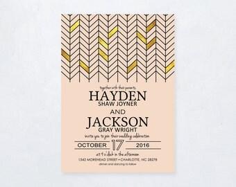 Modern Geometric Wedding Invitation