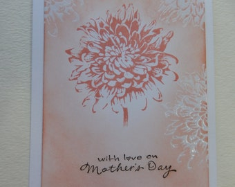 Floral Emboss Resist Mother's Day Card