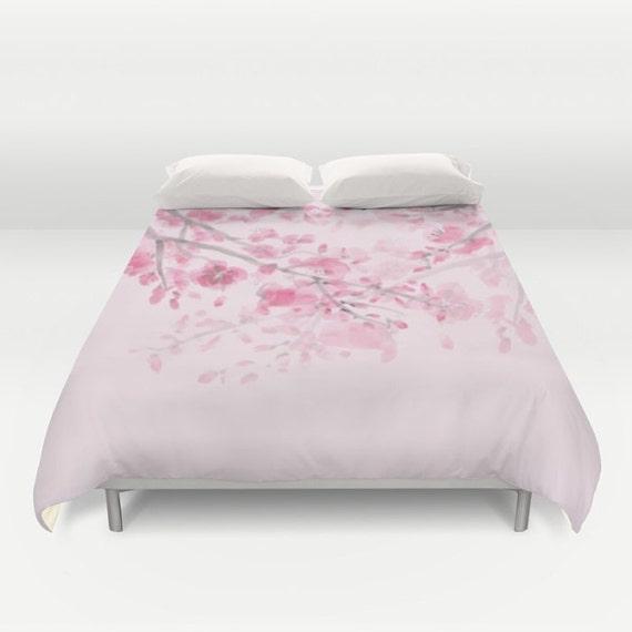 Pink Cherry Blossom Duvet Cover Or Comforter Pink Duvet Or