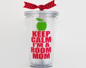 Keep Calm I'm a Room Mom acrylic cup, Room Mom Gift, Room Mom Cup, Room Mom tumbler, Keep Calm I'm a Room Mom acrylic tumbler, Room Mom cup