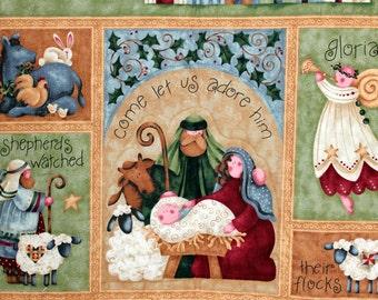 Christmas Quilted Wall Hanging, Benartex Fabrics, Hostess Gift, Christmas Decor, Country Decor, Religious Theme, Quiltsy Handmade