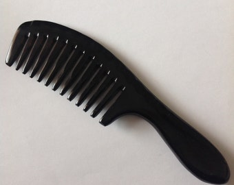 Wide Tooth Organic Oxhorn Hand Made Beard Comb By UB's Beard Basics Beard Season Christmas Beard