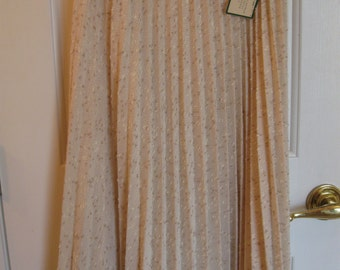 Vintage Leslie Fay Boucle Skirt-Tags on Never Worn! Pleated Beige Specks 1960's Original!