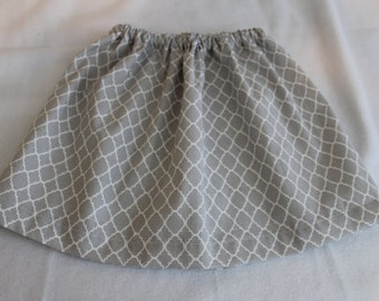 Grey and White Girls Skirt Size 3T
