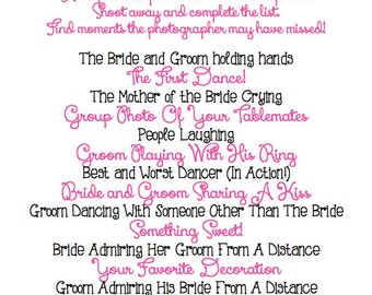 Instant Download - PINKY - I Spy Wedding Game