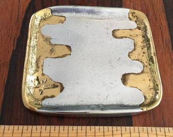 Vintage Square Metal Plate