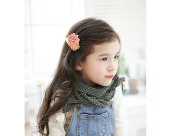 Animal hair clip, Hedgehog hair clip, Mole hair clip,