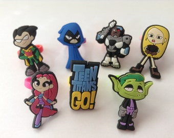 Teen Titans Go! Rings Party Favors Cupcake Toppers 7 Pieces