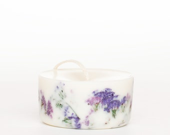 Soy Wax Mini Pillar Candle Wild Flowers with Patchouli/Amber/Pepper scent