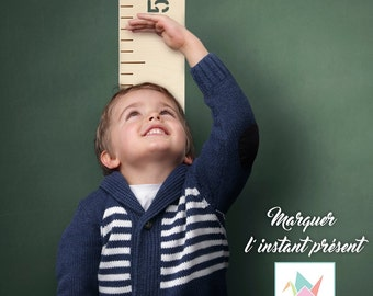 A compact growth chart - big ruler - Growth chart ruler - measuring stick - height chart - kids room - nursery