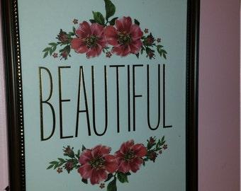 Beautiful - 8x10 wall art