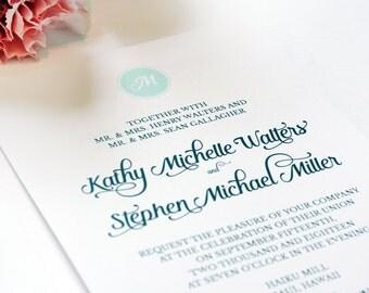 Initially Yours Wedding Invitations, Monogram Wedding Invitations, Calligraphy Wedding Invitations, Classic Wedding Invite Suite