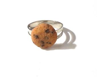 Chocolate Chip Cookie Ring Kawaii Miniature Food Jewelry