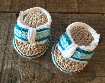 Sz 0-3 mos, Crocheted baby flip flops, Baby sandals, baby gift, photo prop, baby shoes, baby accessory, flip flops