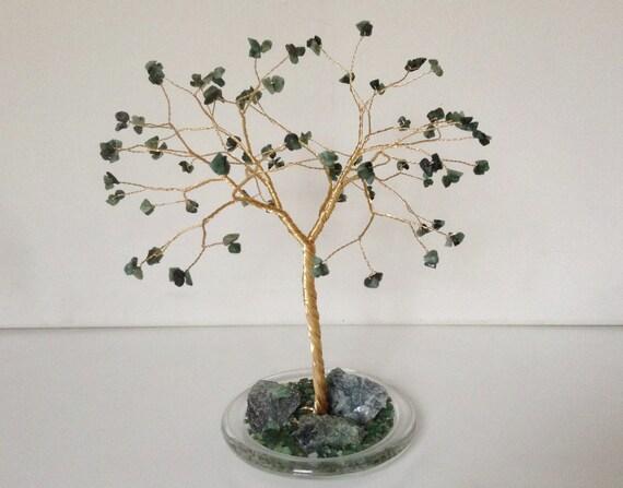 Emerald Wedding Anniversary Gifts: 55th Wedding Anniversary Gift.Emerald Gemstone Tree By Josoko