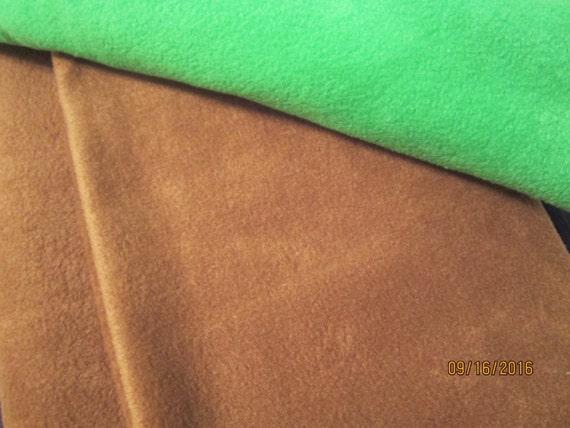 """Solid light brown fleece fabric - """"de-stash"""", measures 60"""" x 60"""""""