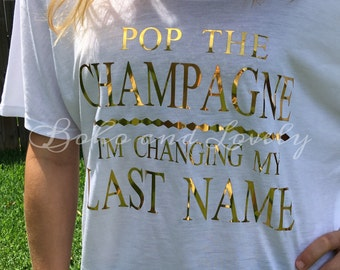 Pop the Champagne slouchy tee