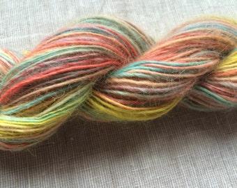 Handspun yarn hand dyed SSSSSOFTTTT TEESWATER Pastels singles  > 12wpi 80g 143yds Singles