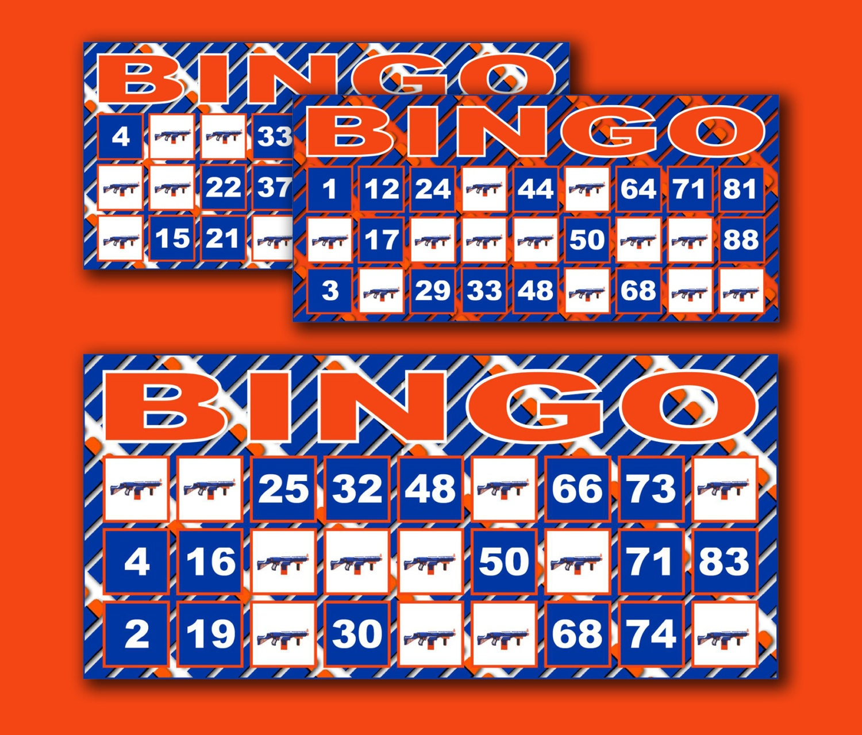 Printable Nerf Bingo Cards Nerf Bingo Game Nerf Party