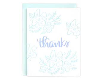 Floral Thank You Card, Floral Thanks, Boxed Set of Thank You Cards, Boxed Set, Flowers Card, Thanks Card, Thank You Card, Thanks