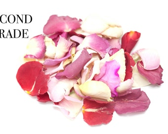 Wedding confetti Rose petals , natural biodegradable confetti 1 litres (second grade)