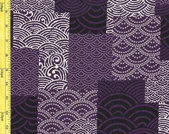 Japanese Traditional - Clamshell Patchwork - Purple