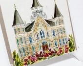 Provo City Center - Watercolor Temple 8x10  print by Elsa Ferre