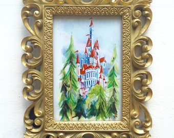 """Beast's Castle 4x6"""" Print in Deluxe Wallhung, Tabletop Frame"""