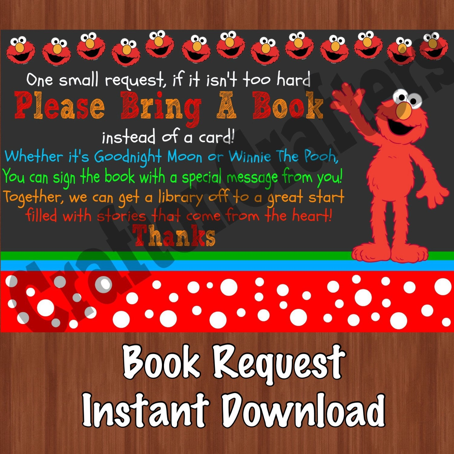 Book Request For Birthday Party Book Request Book Instead
