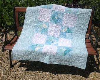 Blue Diamond baby quilt