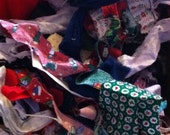 Fabric Scraps, Grab Bag of Fabric, 1/2 Pound Fabric Scraps, Fabric Remnants, Left Over Fabric, Scrap Quilt Pieces